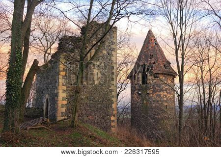 Ruins of Grodziec Castle in Poland