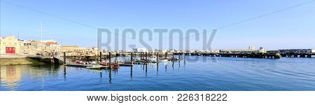 On October 8, 2017 In Peniche, Portugal: View Of The Marina Belonging To The Portuguese Lifesaving I