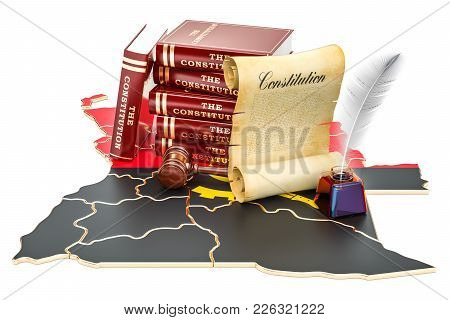 Constitution Of Angola Concept, 3d Rendering Isolated On White Background