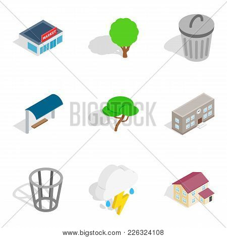 Verdure Icons Set. Isometric Set Of 9 Verdure Vector Icons For Web Isolated On White Background