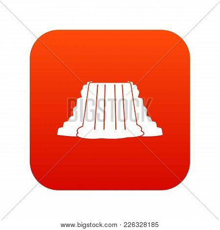 Niagara Falls Icon Digital Red For Any Design Isolated On White Vector Illustration