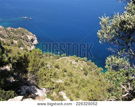 Spectacular View On The Mediterranean Sea In Mallorca, Spain
