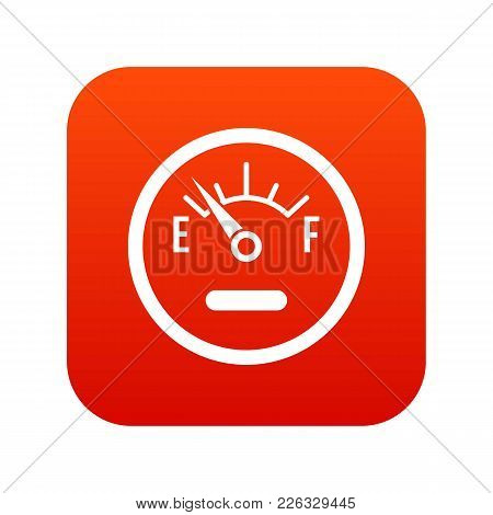 Fuel Sensor Icon Digital Red For Any Design Isolated On White Vector Illustration