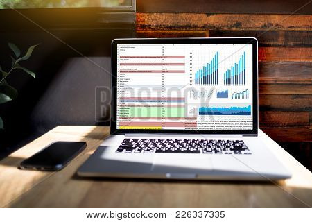 Business Information Technology People Work Hard Data Analytics Statistics