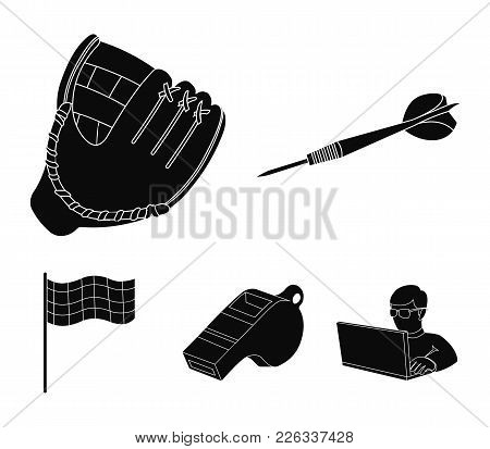Darts For The Game Of Darts, Whistle For The Referee, Glove For Playing Baseball, Checkbox For The F
