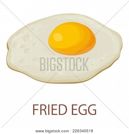 Fried Egg Icon. Isometric Illustration Of Fried Egg Vector Icon For Web