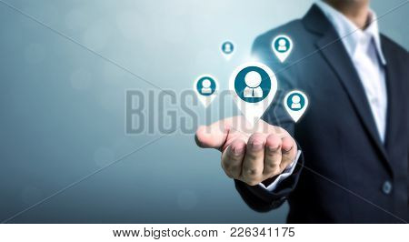 Human Resources, Talent Management And Recruitment Business Concept With Copy Space For Your Text