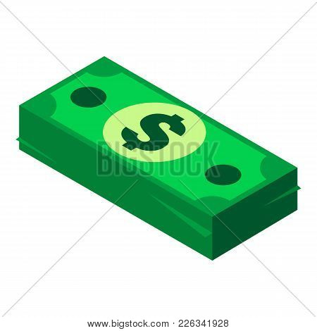 Money Pack Icon. Isometric Illustration Of Money Pack Vector Icon For Web