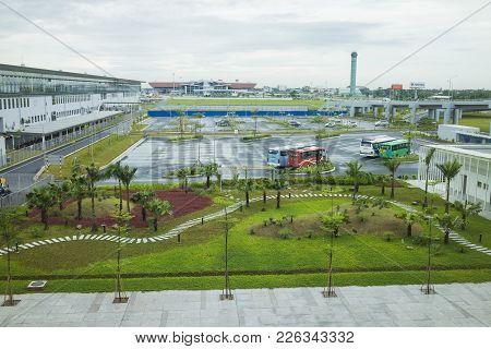 Hanoi, Vietnam - June 26, 2015: Parking Area At Noi Bai International Airport T1