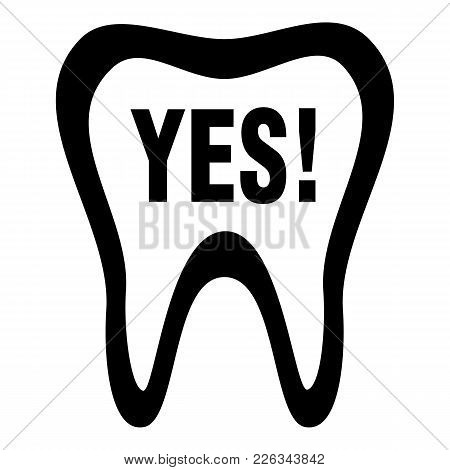 Clean Tooth Icon. Simple Illustration Of Clean Tooth Vector Icon For Web