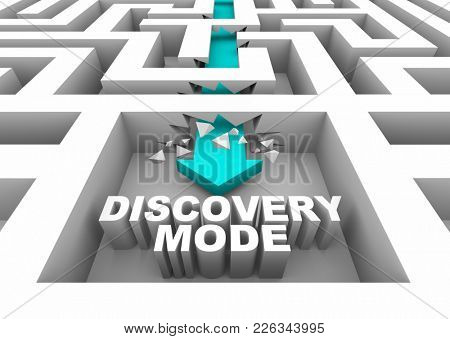 Discovery Mode Puzzle Solution Answer 3d Illustration