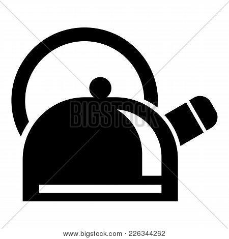 Kitchen Teapot Icon. Simple Illustration Of Kitchen Teapot Vector Icon For Web