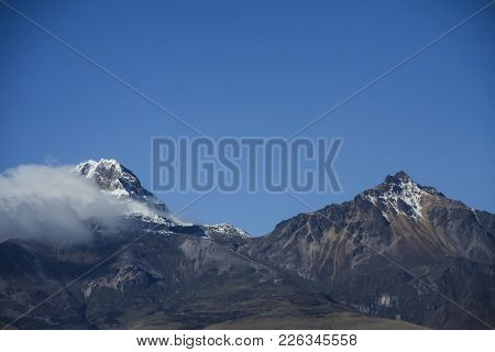 A Sunny Day And Beautiful Sky At The Mountains Of Quito Ecuador