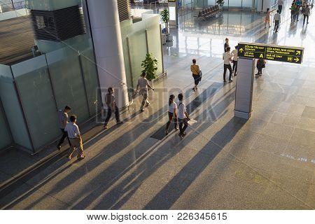 Hanoi, Vietnam - July 12, 2015: High View Of Hall Of Noi Bai International Airport , The Biggest Air