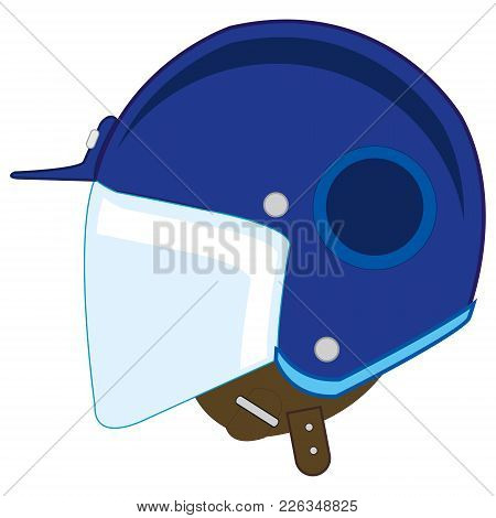 Defensive Send For Go On Motorcycle.vector Illustration