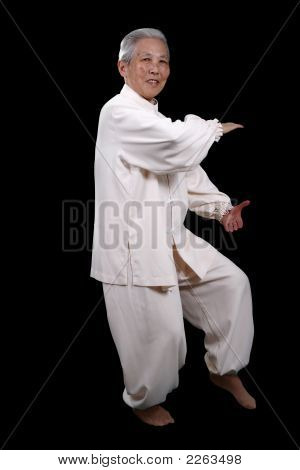Chinese Elderly Performing Tai Chi
