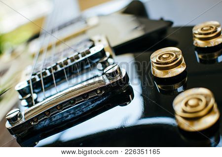 Parts Of A Guitar, Bridge And Pickups