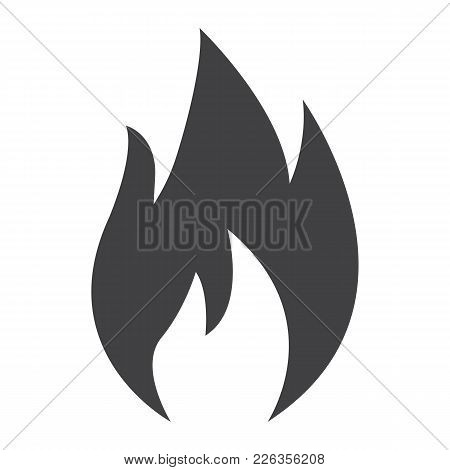 Flammable Symbol Glyph Icon, Logistic And Delivery, Fire Sign Vector Graphics, A Solid Pattern On A