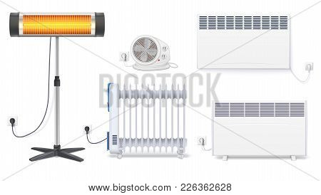 Panel Of Radiator, Electric Oil Radiator, Heater With Fan, Quartz Halogen Heater With The Glowing La