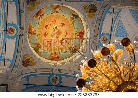 Istra, Russia - January 3, 2017: The Dome Of The Voskresensky New-jerusalem Stavropegial Male Monast