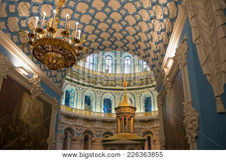 Istra, Russia - January 3, 2017: The Interior Of The Voskresensky New-jerusalem Stavropegial Male Mo