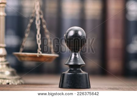 Notary Seal , Scales Of Justicel, Notarized Document Concept, Legality Concept.