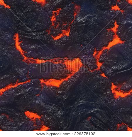Burning Coals- Hot Surface. Abstract Natural Pattern- Glow Faded Flame. 3d Illustration