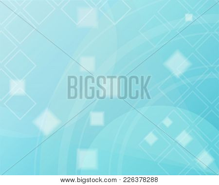Blue Abstract Background Vector Illustration. Wallpaper With The Concept Daytime Sky. Evening Patter