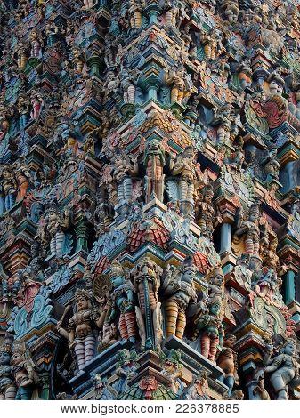 Madurai, India - November, 20th, 2017. Meenakshi Sundareswarar Temple In Madurai. Tamil Nadu, India.