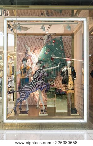 Lyn Around Shop At Emquatier, Bangkok, Thailand, Nov 10, 2017 : Luxury And Fashionable Brand Window
