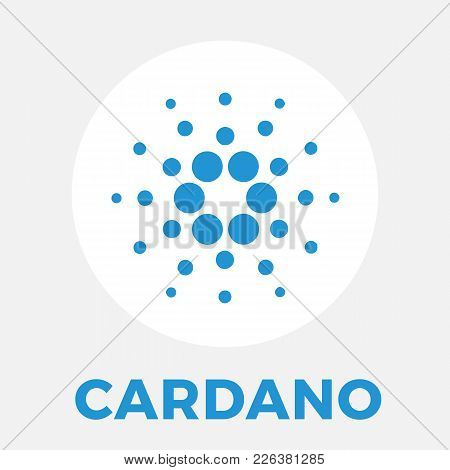 Cardano (ada) Decentralized Public Blockchain And Layered Cryptocurrency And Contracts Vector White