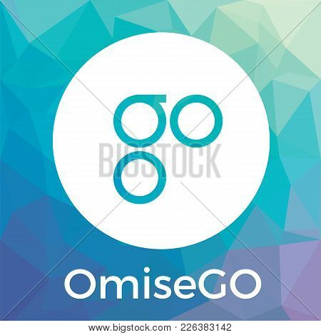 Omisego (omg) Blockchain Banking, Remittance, And Exchange Cryptocurrency Vector Logo.