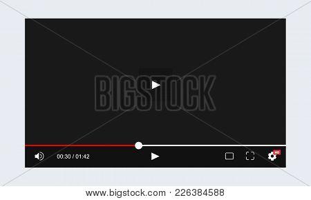 Modern Web Video Player Template. Vector Illustration
