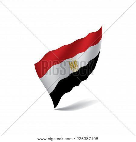 Egypt Flag, Vector Illustration On A White Background