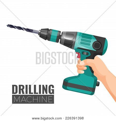 Hand Drill Or Drilling Machine Fitted With Cutting Or Driving Tool Attachment, Usually Drills Or Dri