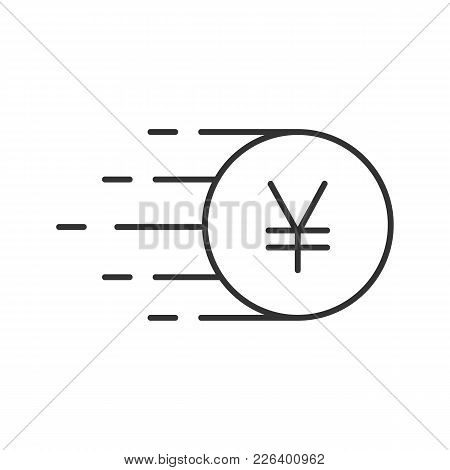 Flying Yen Coin Vector Photo Free Trial Bigstock
