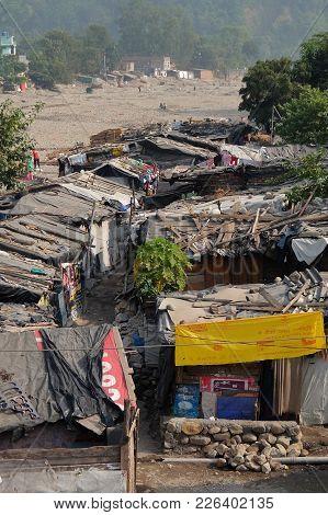 Rishikesh, India - November, 7th, 2017. Slums Of Rishikesh