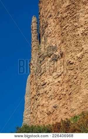 Mallos De Riglos Mountains With El Puro And Blue Sky