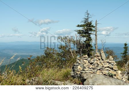 View On The Ridge, Stones And The Wood