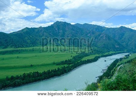 View On The River Valley, The Ridge And The Sky