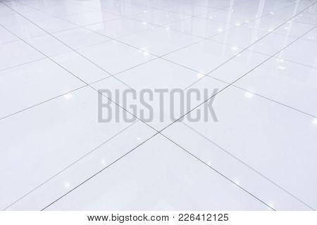 Interior Flooring Tiles Of Corridor, Abstract Background.