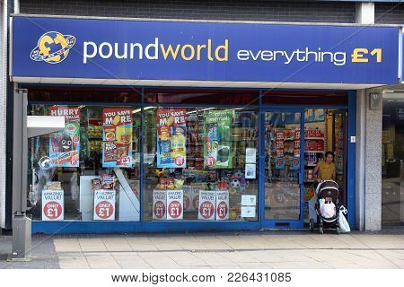 Rotherham, Uk - July 10, 2016: Poundworld Discount Store In Rotherham, Uk. Poundworld Has Over 350 S