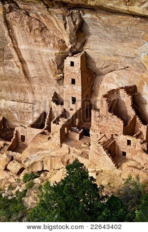 Square Tower House In Mesa Verde National Park