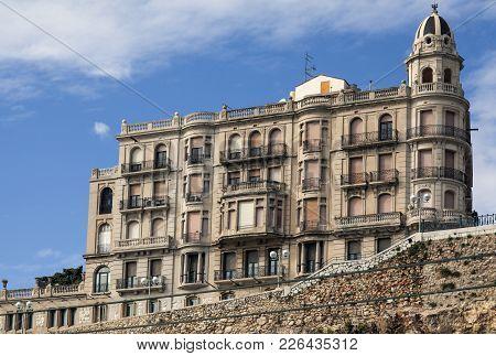 Tarragona,spain-november 7,2011: Architecture, Classic Building, House, Casa Rosell, Style Noucentis