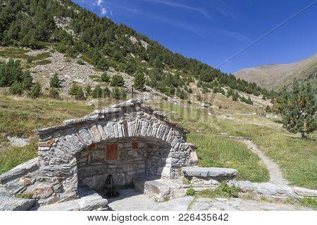 Landscape In Catalan Pyrenees, Vall De Nuria,catalonia,spain.