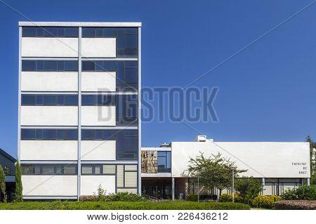 Barcelona,spain-august 16,2011: Architecture, Rationalism Style, University, Law School,facultad Dre
