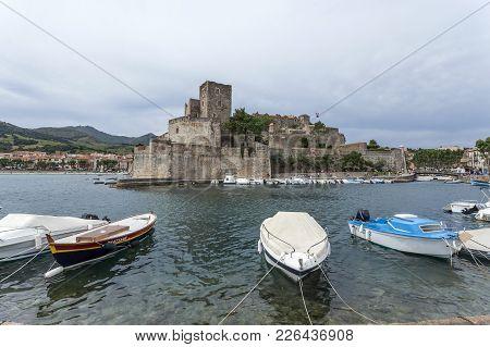 Collioure,france- June 17,2011:historic Monument,royal Castle,chateau Royal, Collioure In Cote Verme