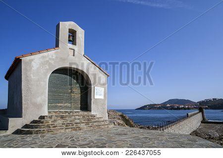 Collioure,france-november 30,2011: Mediterranean View, Architecture, Religious Building, Chapel Sain
