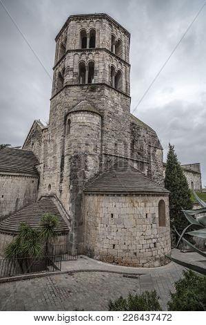 Girona,spain-november 14,2011: Ancient Benedictine Abbey,sant Pere De Galligants, Museum Of Archeolo