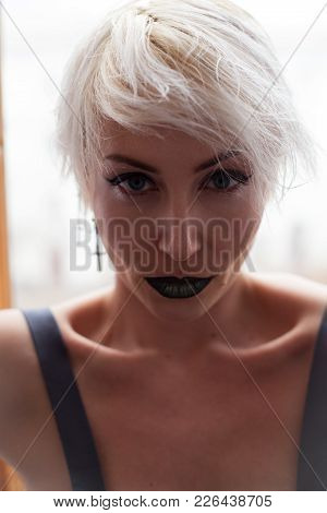 Fashion Portrait Blonde With Short Hair Fashion 1